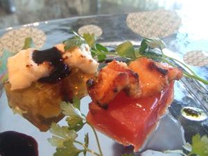 瀬戸内産アナゴ 2種の味わい バルサミコソース