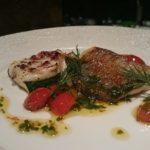 『真名鰹のポワレとズッキーニのグラタン仕立て バジルの香るトマトソースで』です。