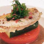 『 連子鯛のポワレトマトのソテーと共に バルサミコの香るクリームソース 』です。
